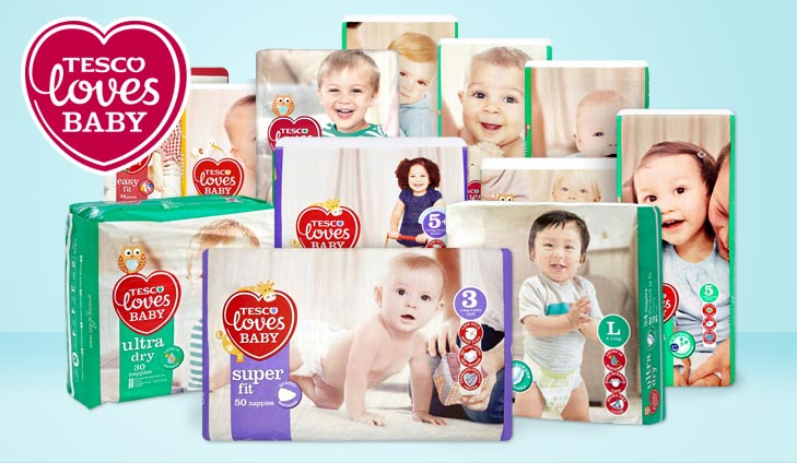 Win a year's supply of Tesco nappies
