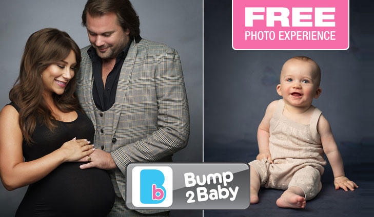 Free Bump to Baby Studio Portrait Experience worth over £120