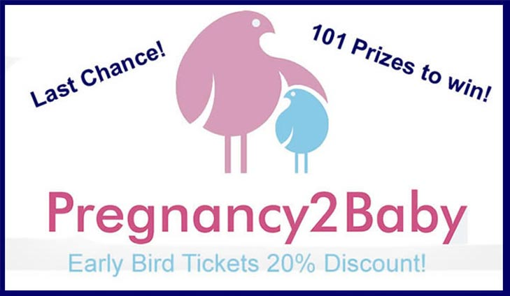 20% off Pregnancy2baby Show tickets + FREE Goody Bag