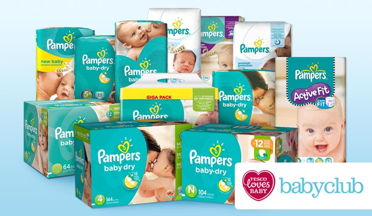 Win a year's supply of Pampers with Tesco Baby Club