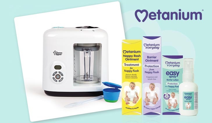 WIN a Tommee Tippee Baby Food Steamer Blender with Metanium!